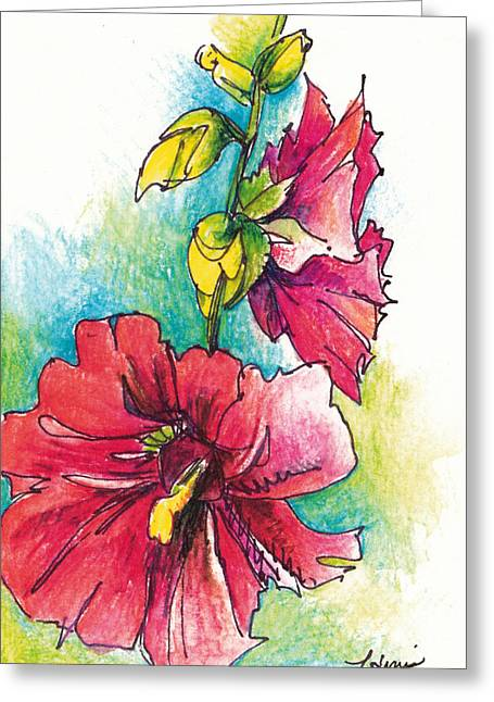 Blazing Red Greeting Card by Lynda Dorris