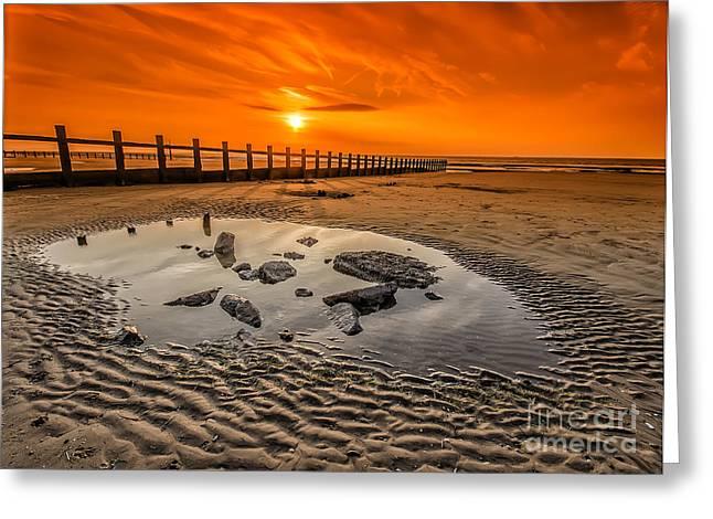 Blazing Sands Greeting Card by Darren Wilkes