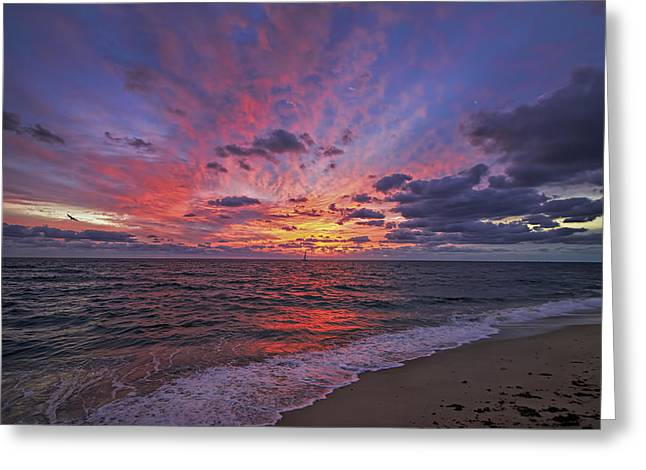 Blazing Sunrise Greeting Card by Island Photos