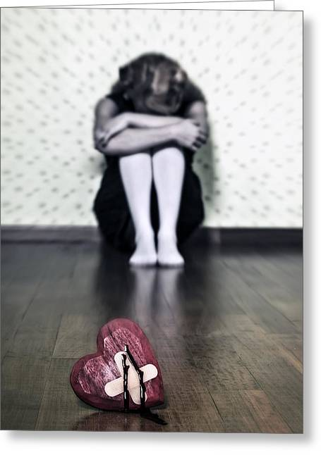 Bleeding Heart Greeting Card by Joana Kruse