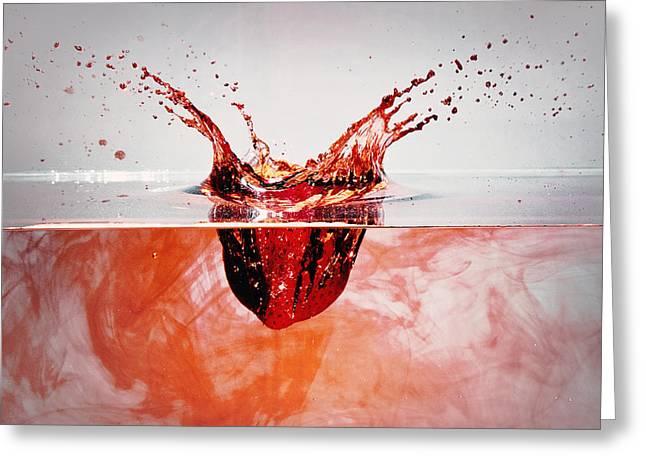 Bleeding Strawberry Greeting Card