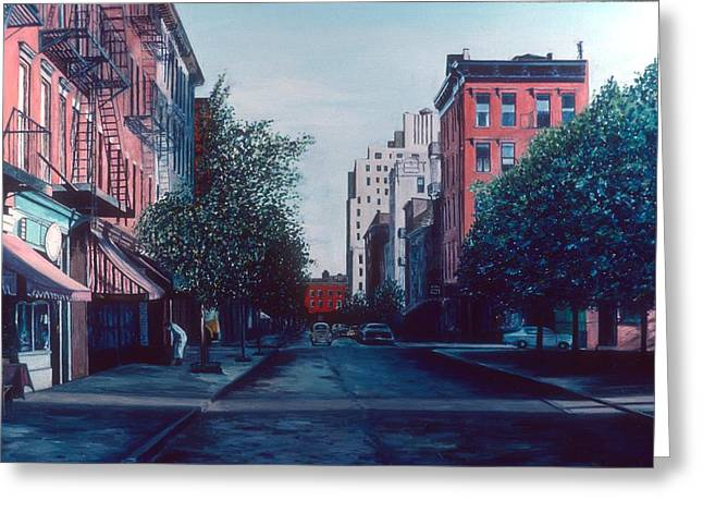 Bleeker Street Greeting Card by Anthony Butera