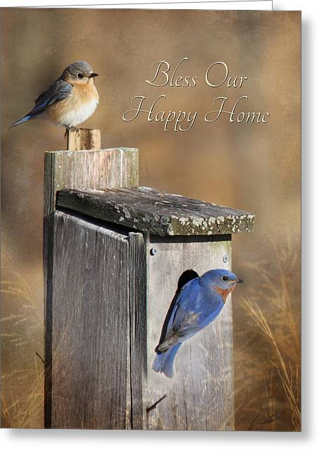 Bless Our Happy Home Greeting Card by Lori Deiter