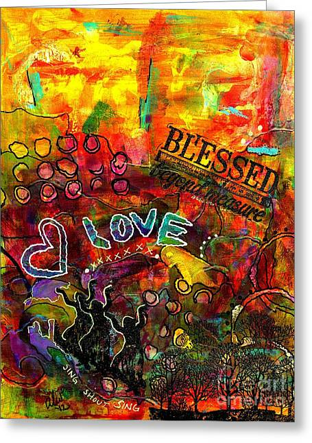 Blessed Beyond Measure Greeting Card