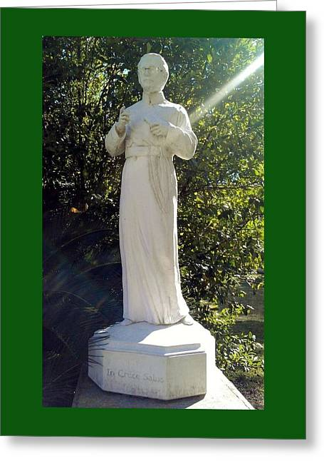 Blessed Francis Xavier Seelos C.ss.r. - New Orleans La  Greeting Card by Deborah Lacoste
