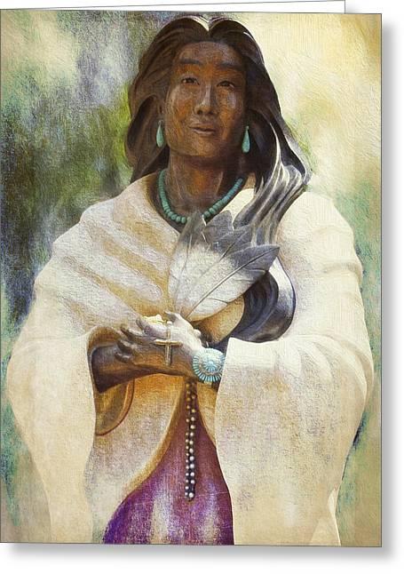 Blessed Kateri Tekakwitha  Greeting Card