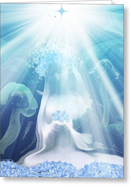 Blessed Mother Mary  Version 2 Greeting Card by Sherri  Of Palm Springs