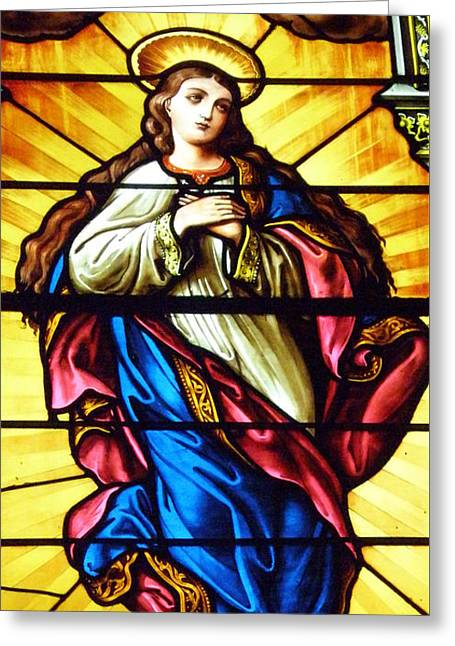 Blessed Mother's Ascention Greeting Card by Debby Pueschel