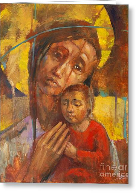 Blessed Ones Greeting Card by Michal Kwarciak