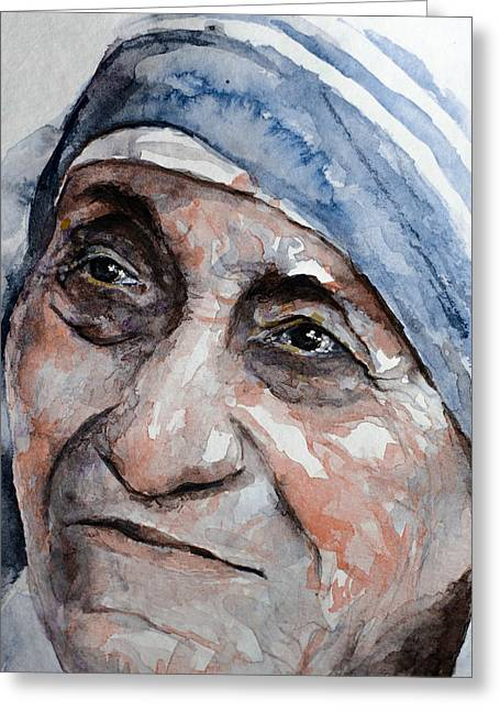 Blessed Teresa Greeting Card by Laur Iduc