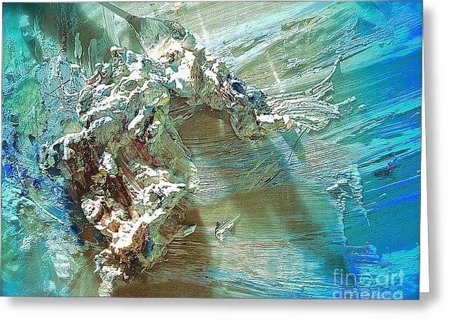 Bleu Comme Le Danube Greeting Card by Delona Seserman