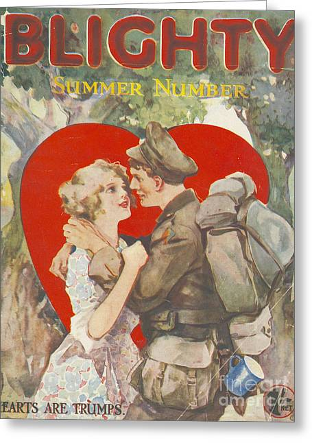 Blighty 1918 1910s Uk First Issue Ww1 Greeting Card