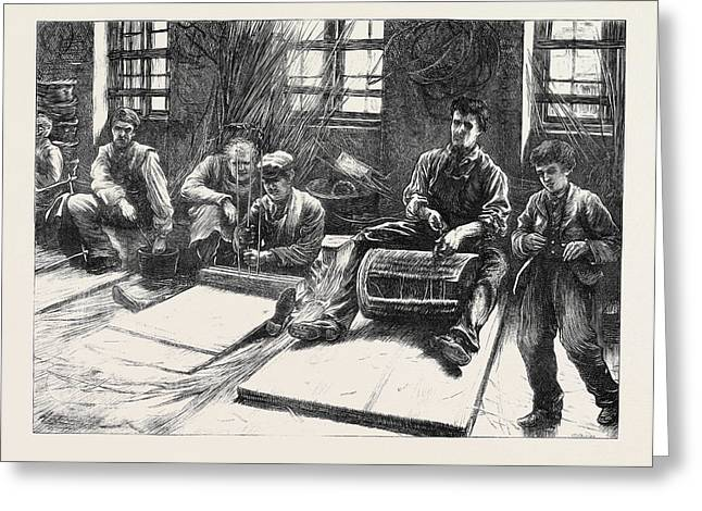 Blind Basket-makers 1871 Greeting Card by English School