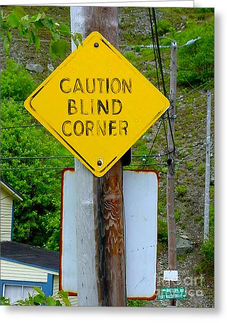 Blind Corner Greeting Card