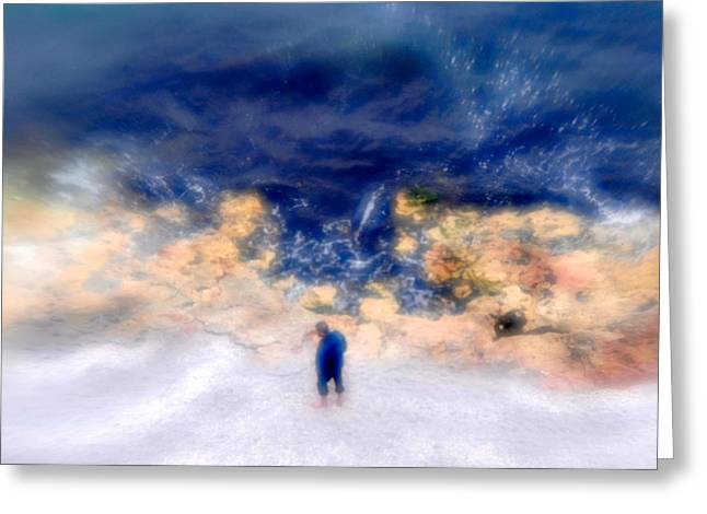 Blind Fisherman Dream 02 Greeting Card by Mihai Ilie