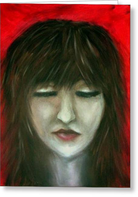 Greeting Card featuring the painting Blind Rage by Kristen R Kennedy