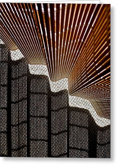 Blind Shadows Abstract I Greeting Card by Kirsten Giving