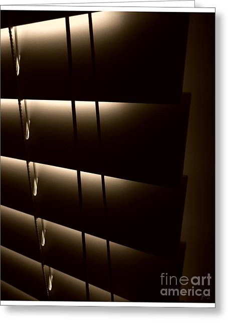 Blinds Greeting Card by Jeff Breiman