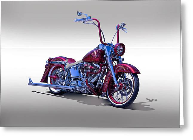 Bling Bling Studio Bike Greeting Card by Dave Koontz