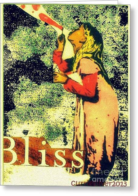 Bliss Greeting Card by Currie Silver