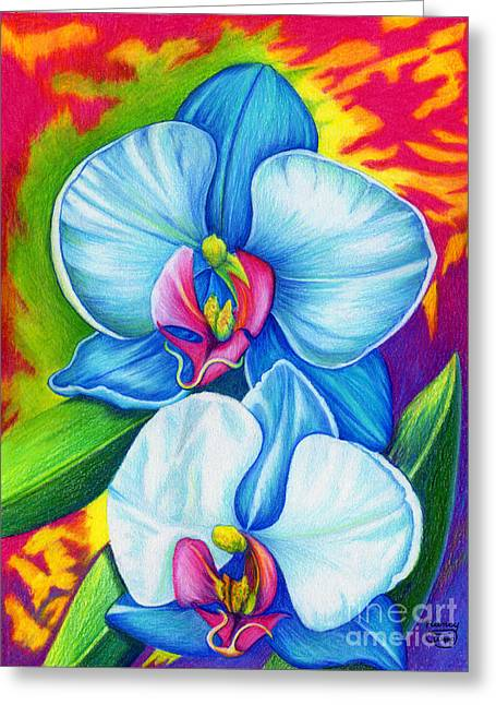 Greeting Card featuring the painting Bliss by Nancy Cupp