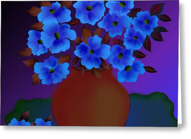 Greeting Card featuring the digital art Blissful by Latha Gokuldas Panicker