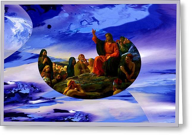 Bloch Jesus Sermon Greeting Card by Robert Kernodle