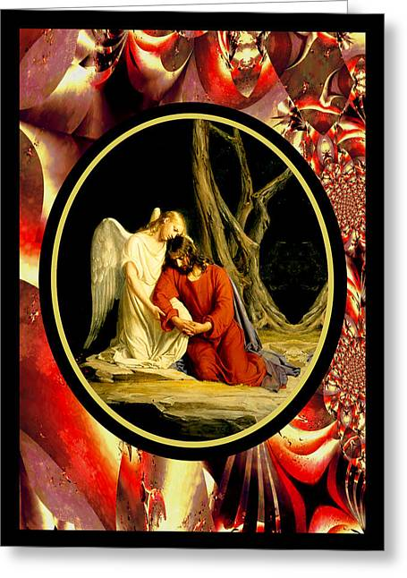 Bloch Vintage Jesus Greeting Card by Robert Kernodle