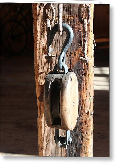 Block And Tackle 3 Greeting Card by Mary Bedy