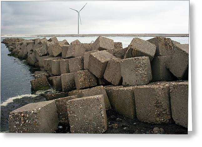 Block Dam Greeting Card by Dirk Wiersma