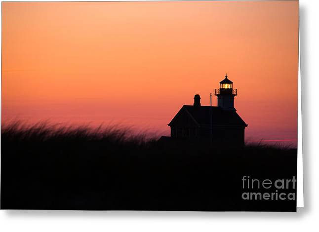 Block Island North Lighthouse Greeting Card by Diane Diederich