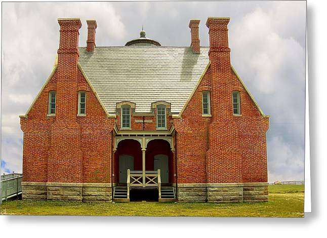 Block Island Southeast Light -back View Greeting Card by Lourry Legarde