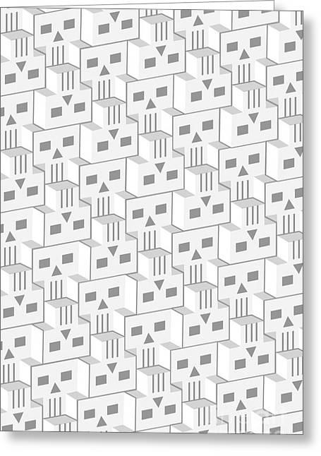 Blockheads - Light Greeting Card