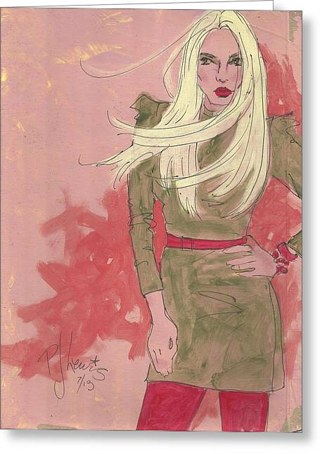 Blonde Attitude Greeting Card by P J Lewis