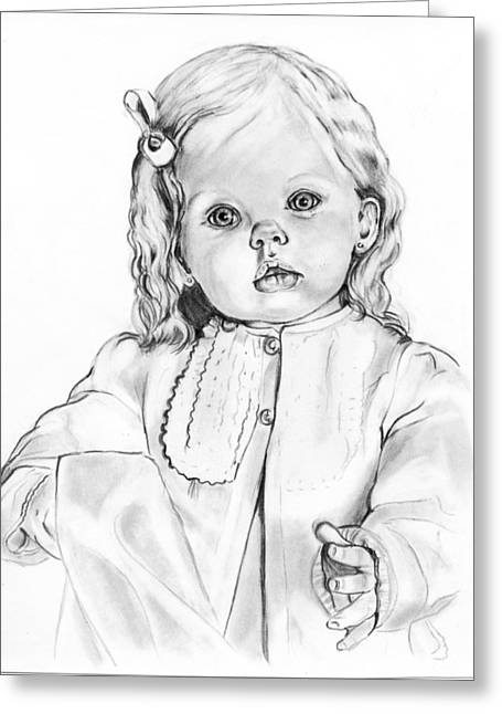 Blonde Doll Greeting Card