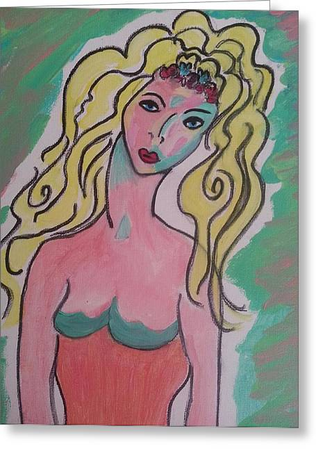 Blonde Lady Greeting Card