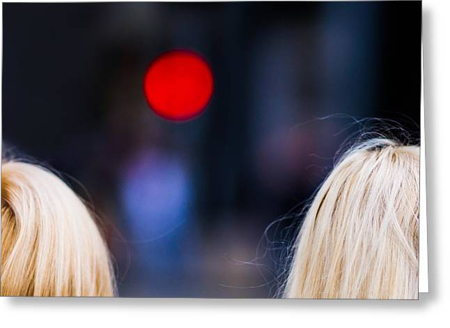 Blondes Are Not Allowed 2 - Featured 3 Greeting Card by Alexander Senin