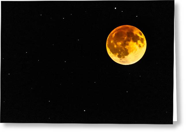Blood Eclipse Greeting Card by Alan Marlowe