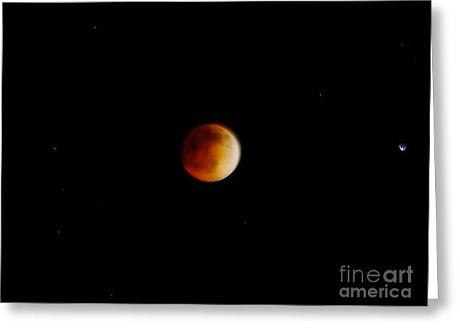 Blood Moon 4.15.2014 Greeting Card by Angela J Wright