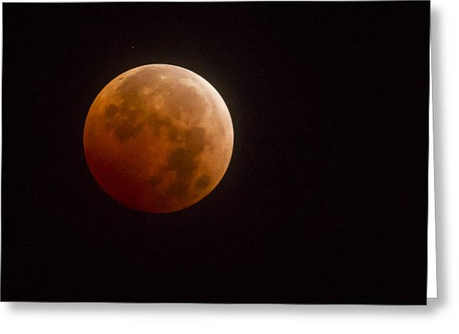 Blood Moon Greeting Card by Jean Noren