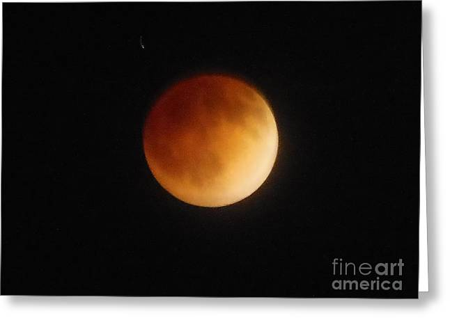 Blood Moon Greeting Card by Eclectic Captures