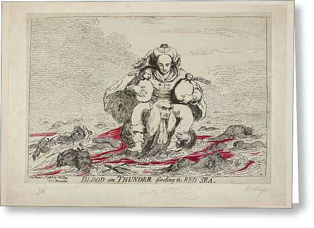 Blood On Thunder Fording The Red Sea Greeting Card by British Library