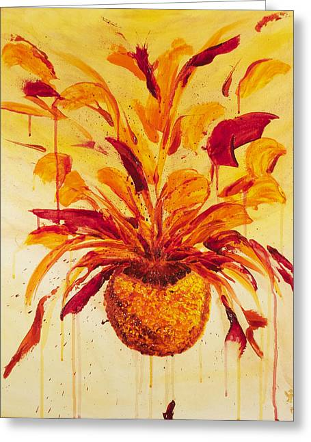 Blood Orange Ginger Greeting Card by Phoenix The Moody Artist