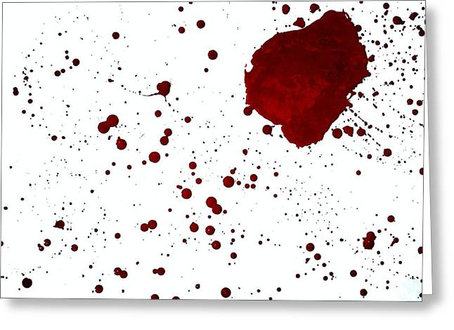blood splatter PANCHAKARMA Greeting Card