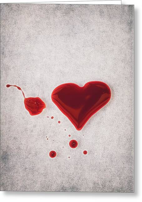 Bloody Heart Greeting Card