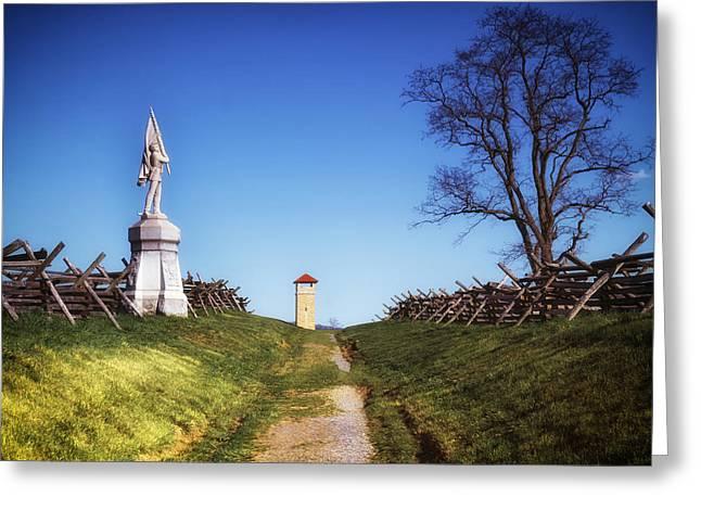 Bloody Lane - Antietam Battlefield Greeting Card by Mountain Dreams