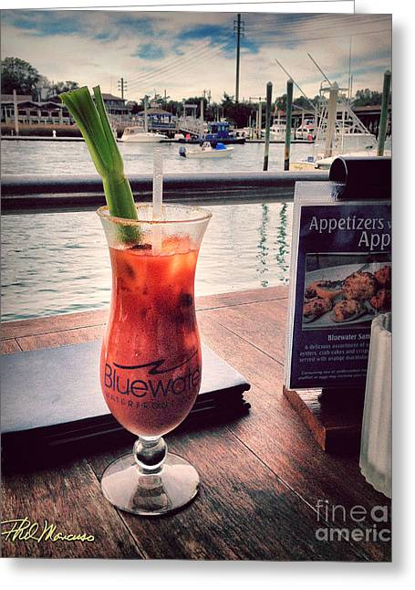 Bloody Mary With A View Greeting Card