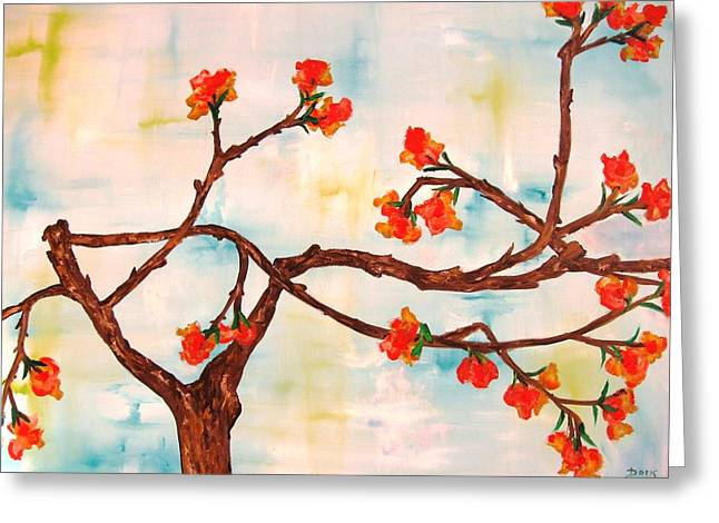 Bloom Greeting Card by Doris Cohen