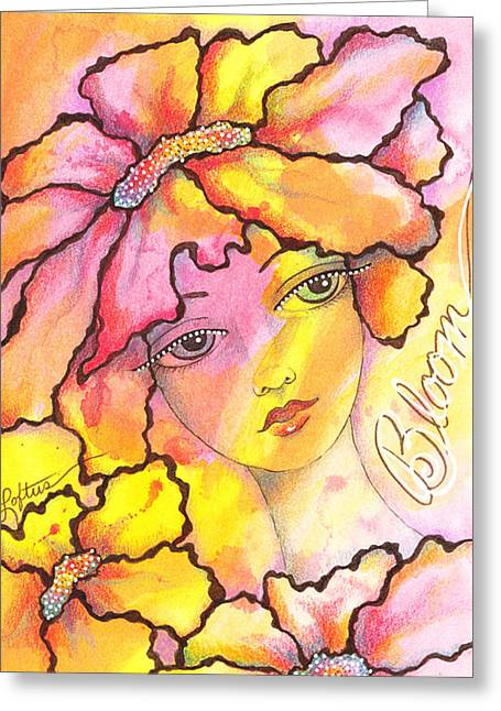 Bloom Greeting Card by Joann Loftus