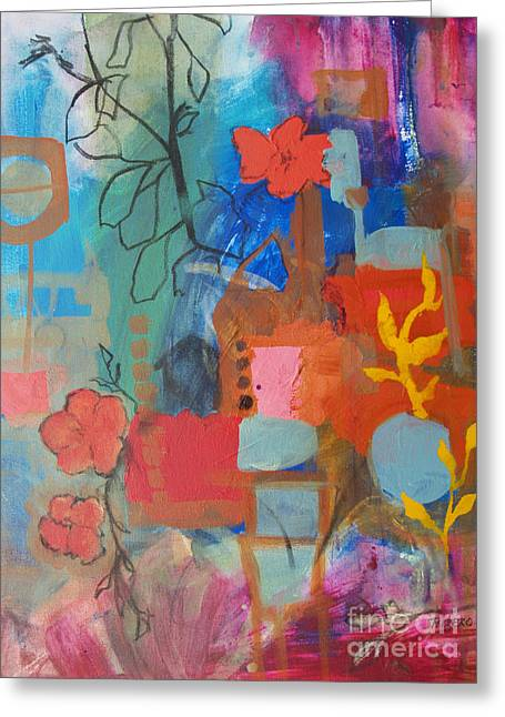 Bloom Where You Are Greeting Card by Robin Maria Pedrero